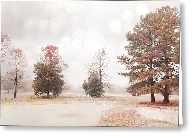 Dreamy Ethereal Serene Peaceful Nature Trees Landscape Greeting Card by Kathy Fornal