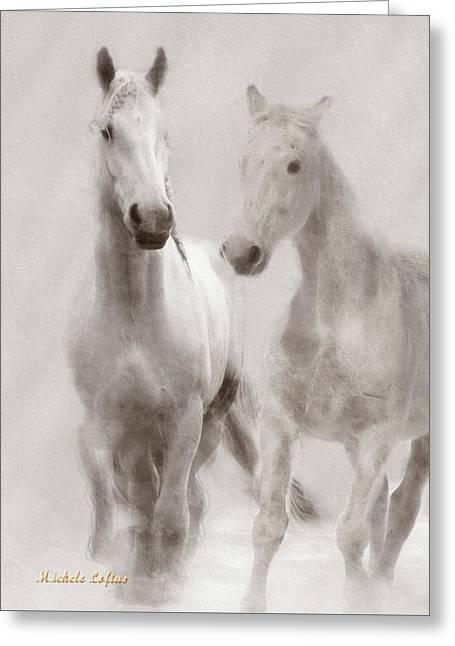 Dreamy Horses Greeting Card