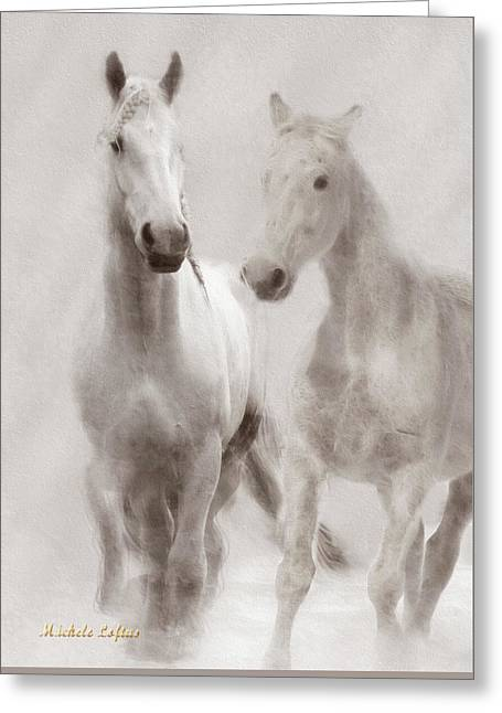 Dreamy Horses Greeting Card