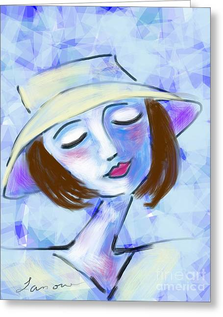 Dreamy Jeanne Greeting Card by Elaine Lanoue