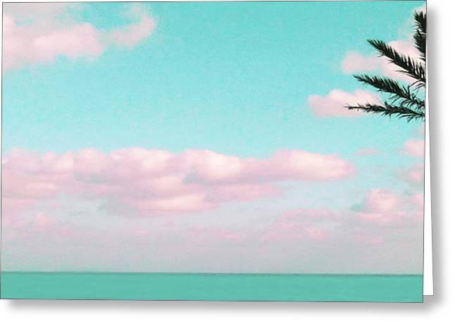 Dreamy Ocean View Greeting Card by Inge Lewis
