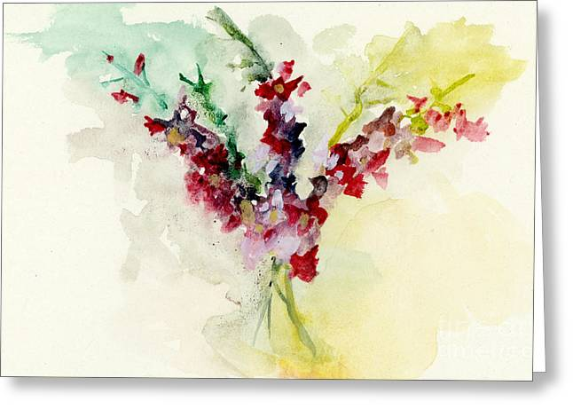 Dreamy Orchid Bouquet Greeting Card