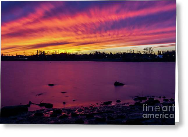 Dreamy Reflection Greeting Card by James Brown