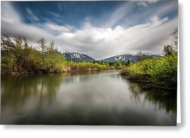 Greeting Card featuring the photograph Dreamy River Of Golden Dreams by Pierre Leclerc Photography