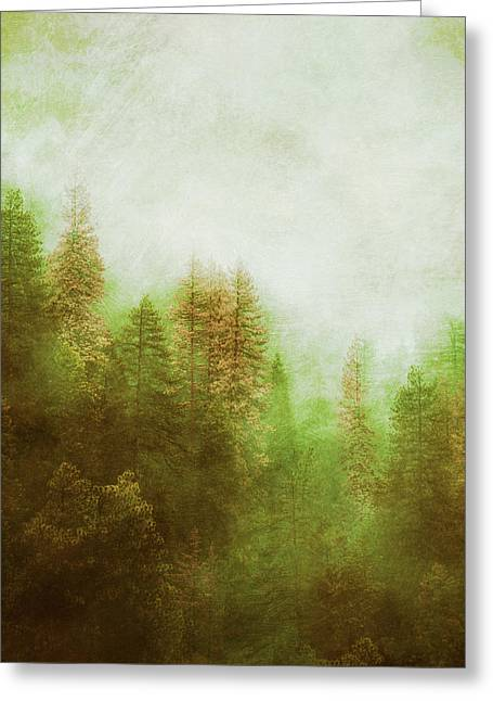 Greeting Card featuring the digital art Dreamy Summer Forest by Klara Acel