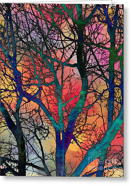 Greeting Card featuring the digital art Dreamy Sunset by Klara Acel
