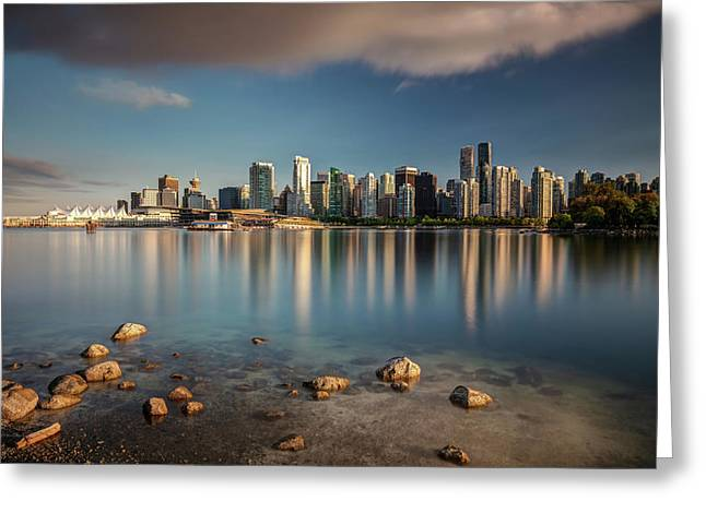 Greeting Card featuring the photograph Dreamy Vancouver Cityscape by Pierre Leclerc Photography