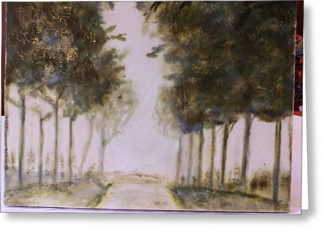 Dreamy Walk Greeting Card by Karla Phlypo-Price