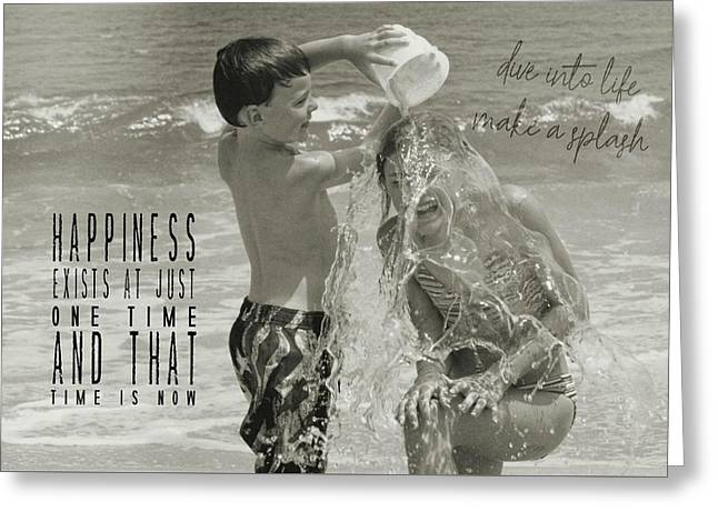 Drenched Quote Greeting Card by JAMART Photography