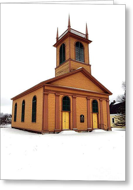 Dresden St John Episcopal Church In Snow Greeting Card by Olivier Le Queinec