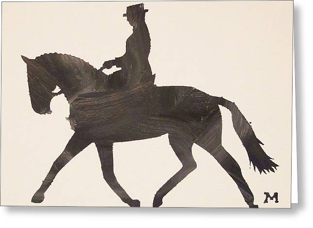 Dressage At Downton Greeting Card