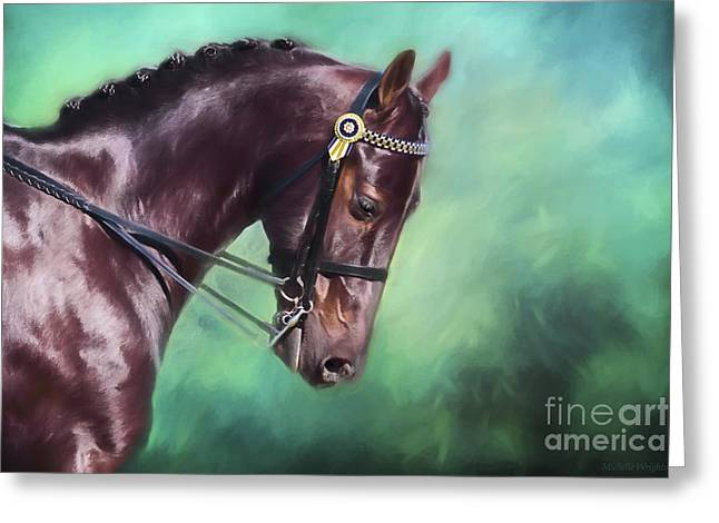 Dressage Dreams Greeting Card by Michelle Wrighton