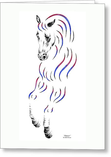 Dressage Horse Dancer Print Greeting Card