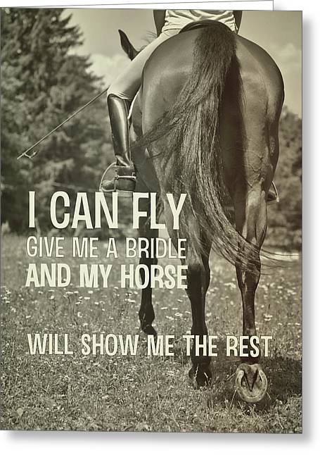 Dressage In The Daisies Quote Greeting Card