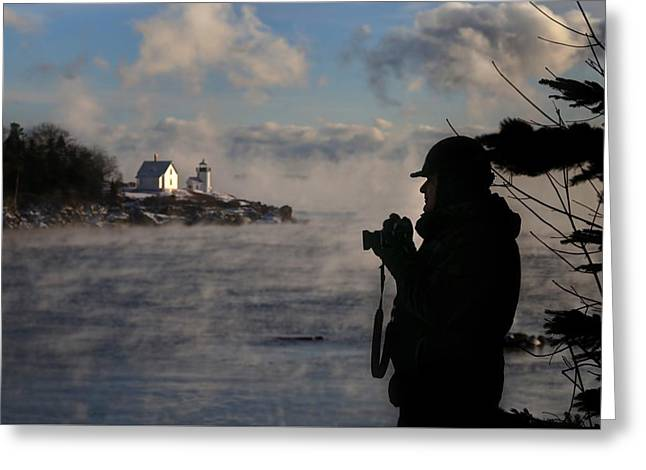 Dressed For Sea Smoke Greeting Card