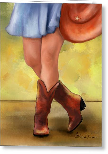 These Boots Are Made For Dancing Greeting Card