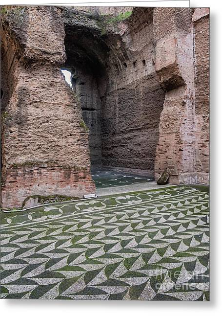 Dressing Room In Baths Of Caracalla In Ancient Rome, Italy Greeting Card