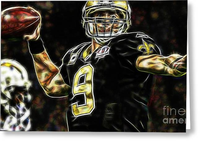 Drew Brees Collection Greeting Card by Marvin Blaine