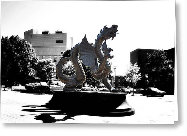Drexel Dragon Greeting Card by Bill Cannon