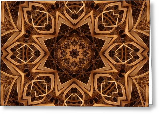 Dried Grass Mandala Greeting Card by Lyle Hatch