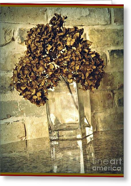 Dried Hydrangea 3 Greeting Card