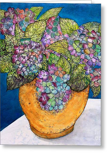 Dried Hydrangea Greeting Card by Janet Immordino