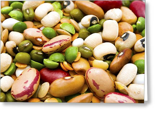 Dried Legumes And Cereals Greeting Card