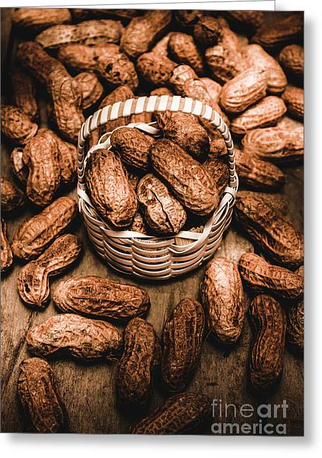 Dried Whole Peanuts In Their Seedpods Greeting Card