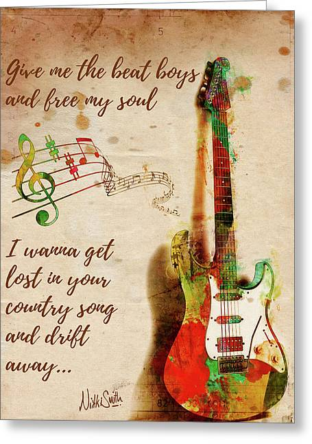 Greeting Card featuring the digital art Drift Away Country by Nikki Marie Smith