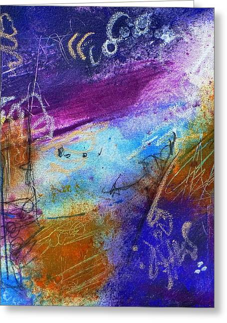 Greeting Card featuring the painting Drift Away by Tracy Bonin