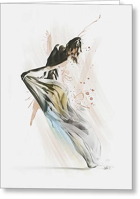 Drift Contemporary Dance Greeting Card