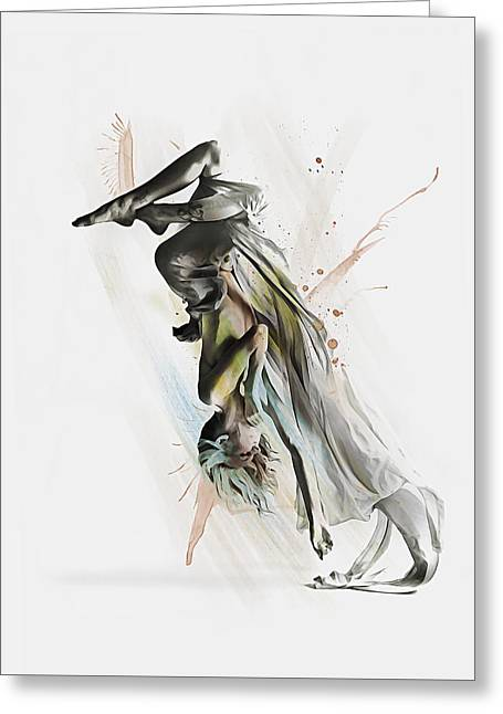 Drift Contemporary Dance Two Greeting Card