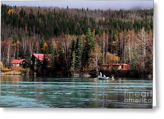 Drift Fishing On The Kenai Greeting Card