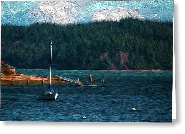 Greeting Card featuring the digital art Drifting by Timothy Hack