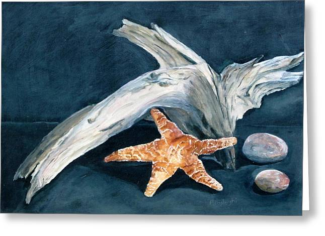 Driftwood And Starfish Greeting Card