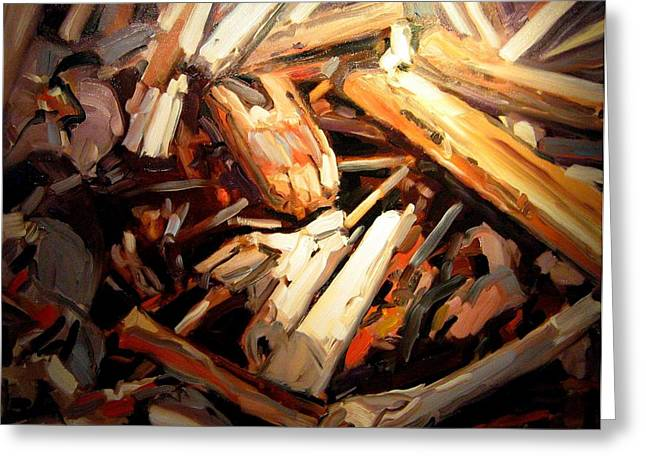 Driftwood Greeting Card by Brian Simons