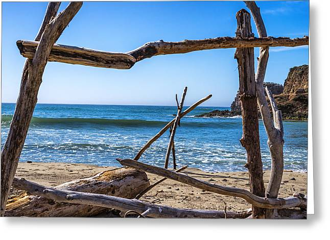 Driftwood Frame Greeting Card by Joseph S Giacalone