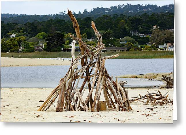 Driftwood Tipi With A View Greeting Card