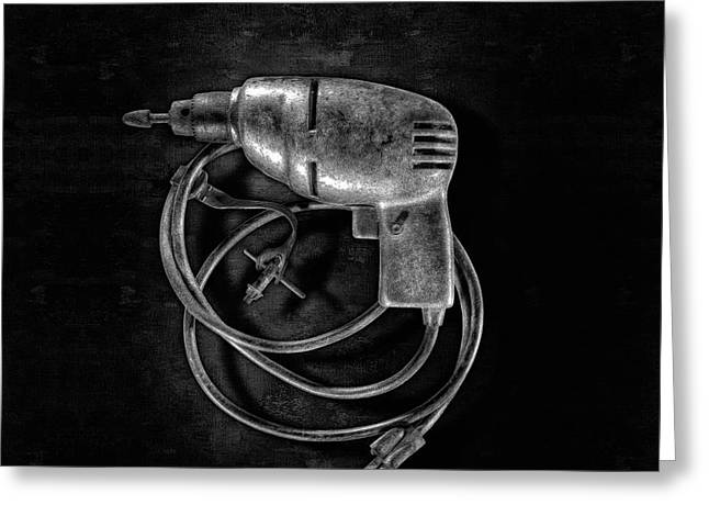 Drill Motor Trigger Greeting Card by YoPedro