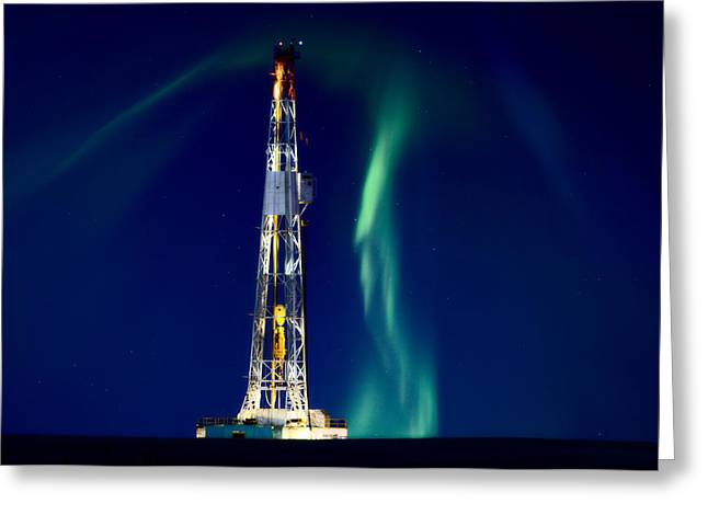 Oil Platform Greeting Cards - Drilling Rig Potash Mine Canada Greeting Card by Mark Duffy