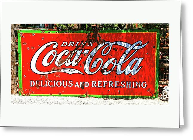 Drink Coca Cola Greeting Card by Allen Beatty