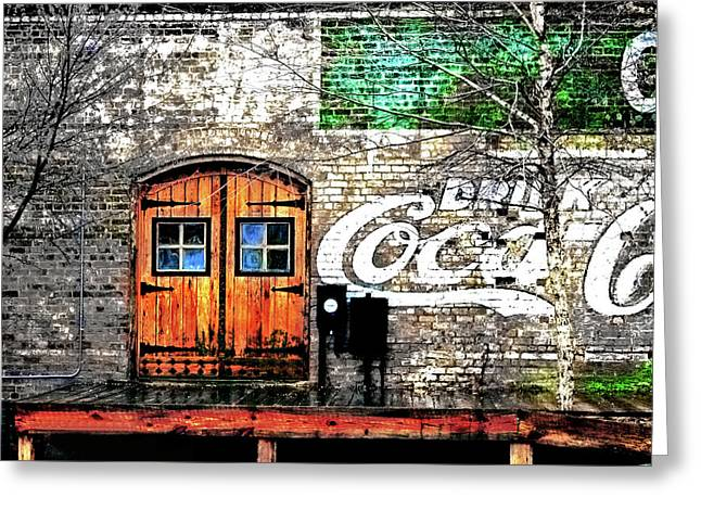 Drink Coca Cola  Greeting Card by Gray  Artus
