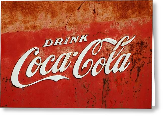 Drink Coca Cola  Greeting Card by LeeAnn McLaneGoetz McLaneGoetzStudioLLCcom