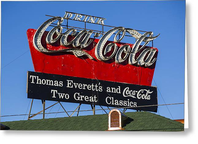 Drink Coca-cola Greeting Card by Stephen Stookey