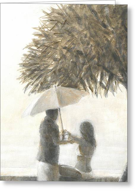 Drink Under A Tree Greeting Card