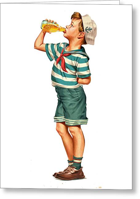 Drink Up Sailor Greeting Card