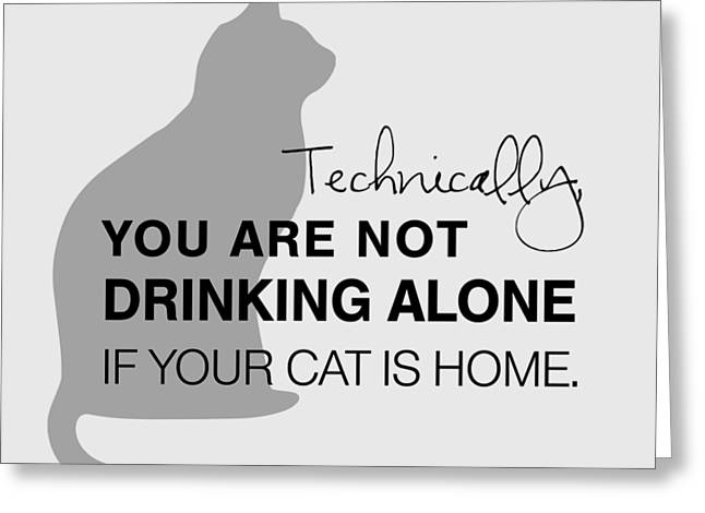Drinking With Cats Greeting Card