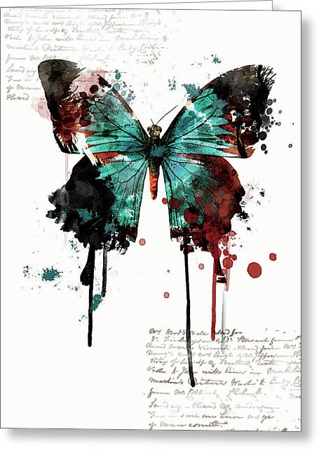 Dripping Butterfly Greeting Card
