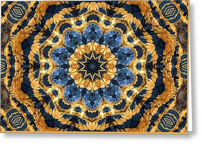 Dripping Gold Kaleidoscope Greeting Card