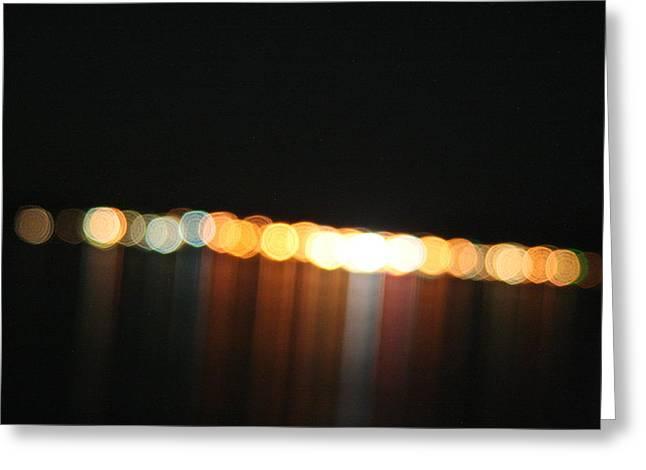 Dripping Light Greeting Card by David S Reynolds
